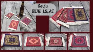 4 onderzetters Perzisch tapijt